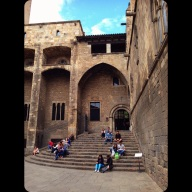 Plaça Del Rei, The Old King's Palace, and the actual steps that Colombus came to after traveling to the New World...