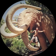Which, of course, had a life size wooly mammoth statue.