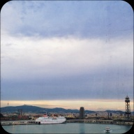 BCN from the bridge to our terminal in port.