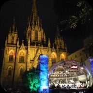 Another lucky 'just-stumbled-upon' the Barcelona orchestra playing West Side Story in front of Gaudi's Basilica!