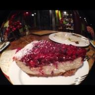 Terry's razzberry cheesecake.