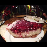 Terry's razzberry cheesecake.
